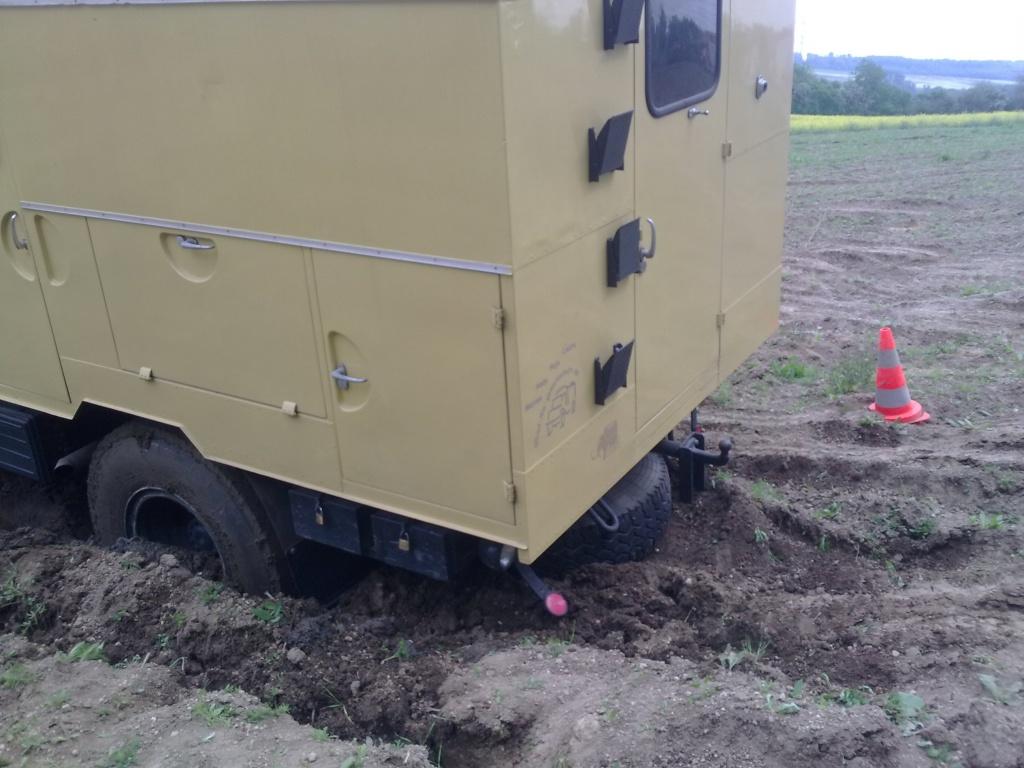 Mercur Ersatzradhalter hinten unter Rahmen - Allrad-LKW-Gemeinschaft